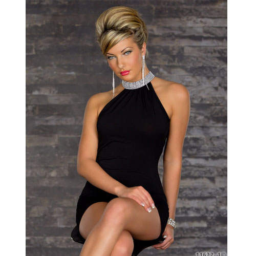 Ruffled Knee-length Tank Fashion Ladies' Dress