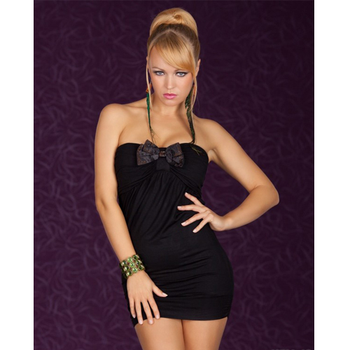 Fashion factory price Short Strapless Sexy Dress