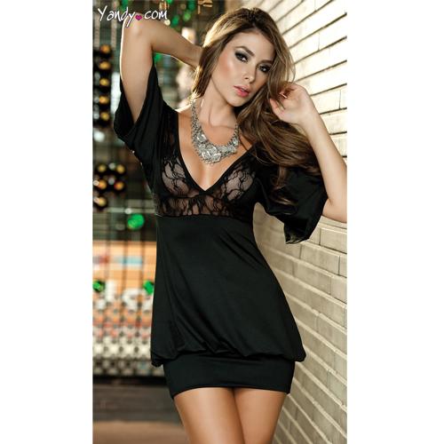 New Arrival Bodice Black Short sleeves Fashion Dress