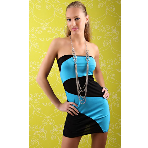 New Fashion Style Strapless Bodice Party Dress