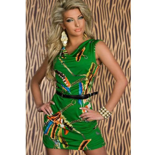 Black belt included Green mini dress