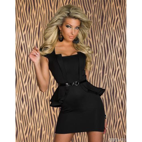 Wholesale black dress with Belt ML17892