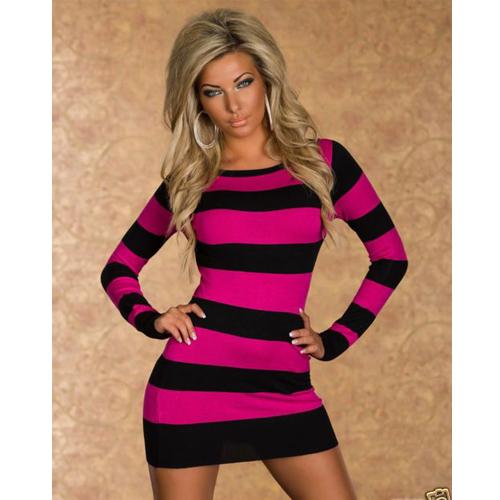2014 New Style Stripped fashion mini dress