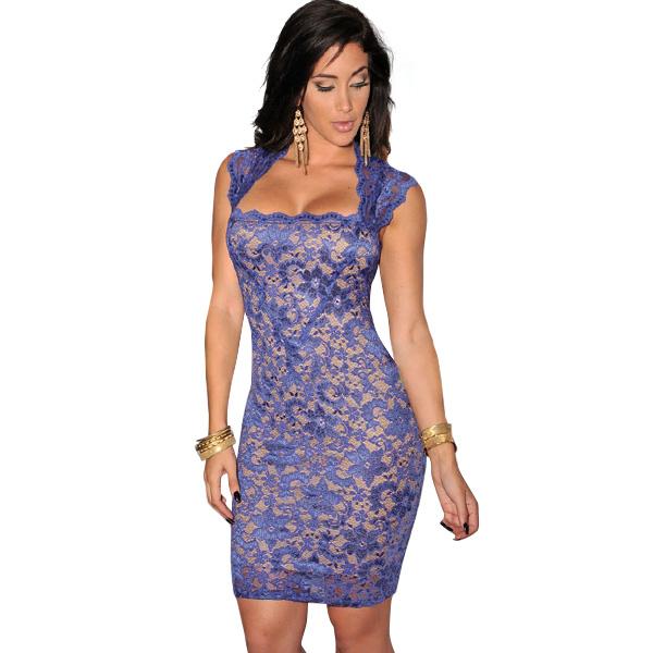 ML18478 Sexy Fashion Bandage Women Lace Mini Dress For Party