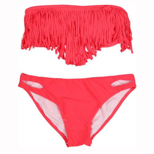 ML37097 New Style Red Fringe Bikini
