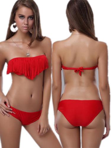 ML37099 Sexy Red Fringe Bikini