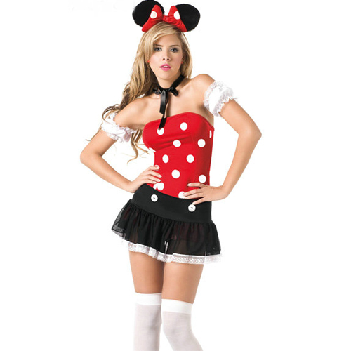 Adult Minnie Mouse Fancy Dress Costume + Playful Mouse Costume