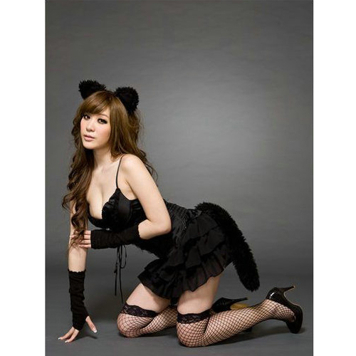 Sexy girl role playing demon cat equipment Party Dress Clubwear Party costume