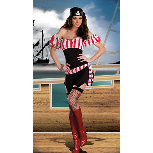 Striped Pirate Women's Costumes