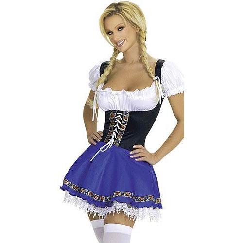 Clubwear sexy blue beer girl costume fancy dress