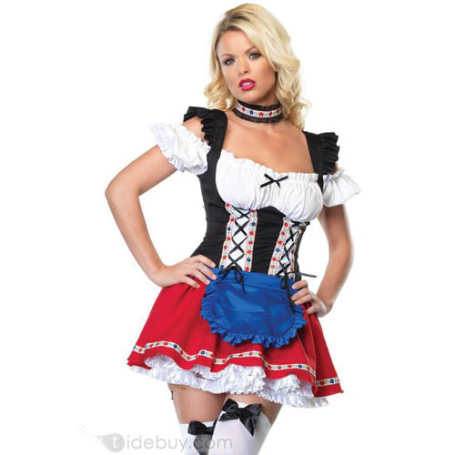 2013 sexy Halloween costume Sexy German beer maid costume