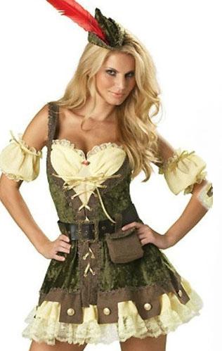 ML5273 Sexy Ladies Outlaw Robin Hood Fancy Dress Costume