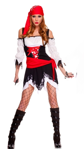 Jagged Hemline Pirate Costume