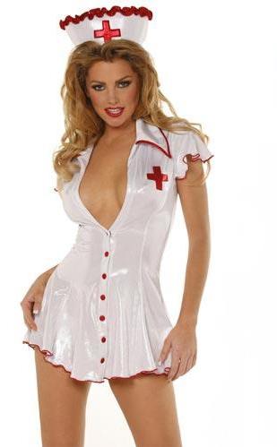 Sexy Ladies Nurse Costume Uniform Outfit