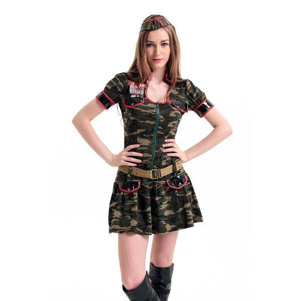 ML5445 Sexy Ladies Military Costume