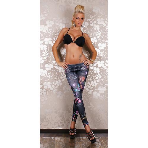 Hot Sexy Slim Fit Comic Beauty printing seamless Leggings jean look capris