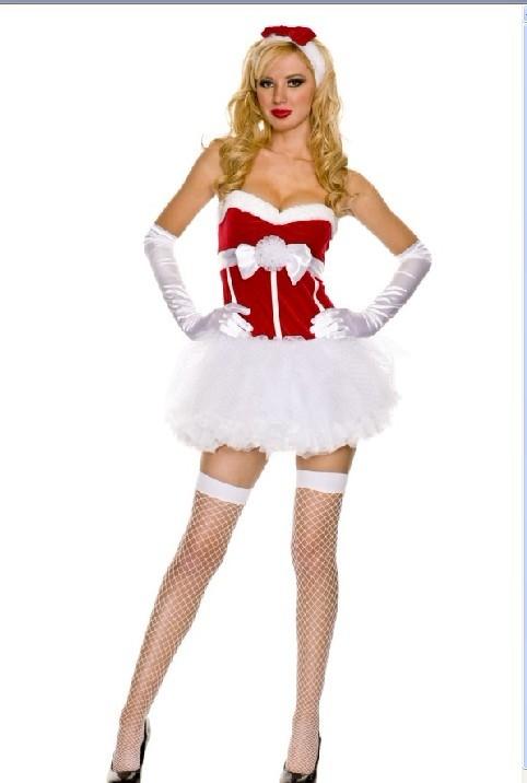 The velvet miss santa outfit