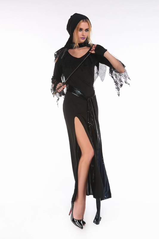 ML9047 Halloween Party Witch Black Dress Costumes
