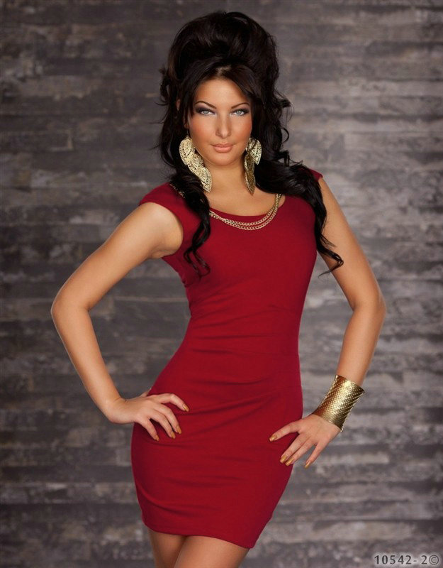 Red Sexy Clubwear Intimate Lingerie with G-string Women Mini Night Club Dress