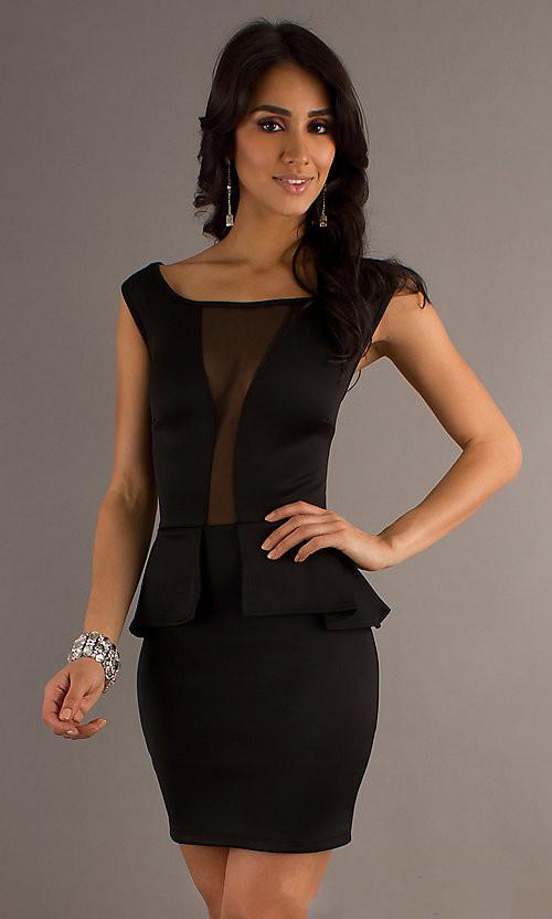ML17995 Black Sexy Back Mini Dress