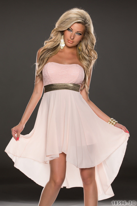 ML18067 Long Back Short Front Sleeveless Party Dress