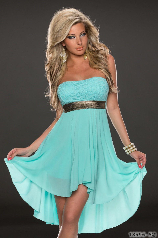 ML18070 Sexy Sleeveless Long Back Short Front Summer Dress